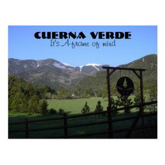CV_RYE AFRAME, Cuerna Verde, es Uno-marco de la Postal