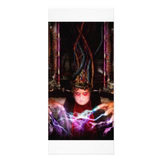 Cyberpunk - habilidades enojadas diseño de tarjeta publicitaria