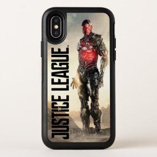 Cyborg de la liga de justicia el | en campo de