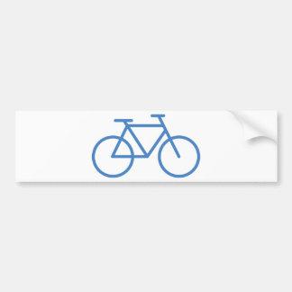 cylce azul de la bicicleta del icono de la bici pegatina para coche