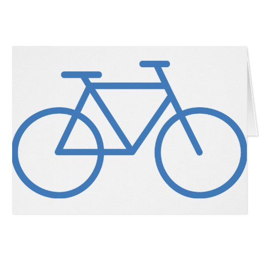 Cylce azul de la bicicleta del icono de la bici - La bici azul ...