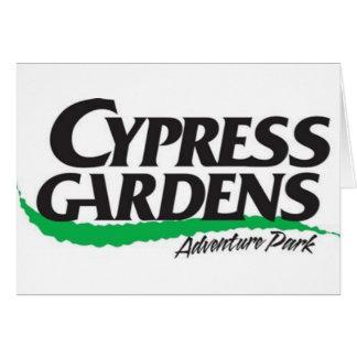 Cypress cultiva un huerto el parque de la aventura tarjeta de felicitación