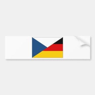 czechgermany etiqueta de parachoque