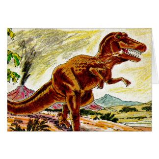 D está para el dinosaurio tarjeton