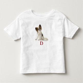 D está para el perro camiseta de bebé