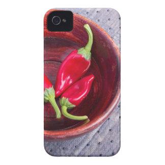 Da fruto la pimienta roja caliente de los chiles funda para iPhone 4
