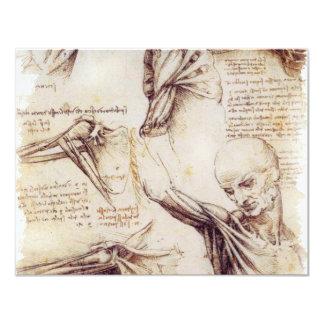da Vinci -- Bosquejo del hombro Invitación