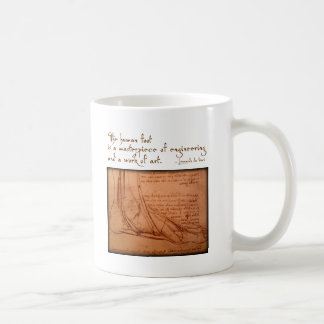 """da Vinci: """"El pie humano es… """" Taza"""