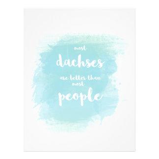 Dachses es mejor que caligrafía del azul de la folleto 21,6 x 28 cm