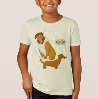 Dachshund áspero del collie y del perrito caliente camiseta