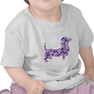 Dachshund púrpura de Doxie de la hawaiana Camiseta