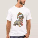 Dachshund Wirehaired feliz de Howlidays Camiseta