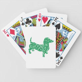 Dachshunds del trébol baraja cartas de poker
