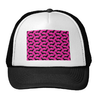 Dachshunds rosados de la polca gorros
