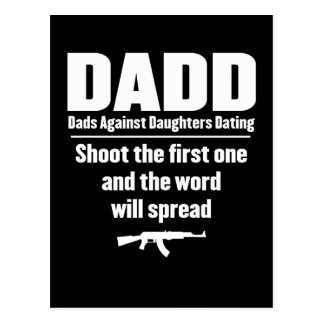 dadd - papás contra fechar de las hijas divertido postal