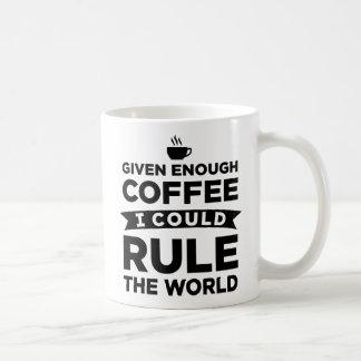 Dado bastante café me podría gobernar las tazas