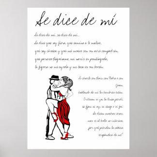 Dados de mi Lyrics del SE Póster