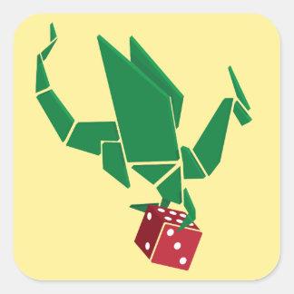 Dados del dragón - pegatina