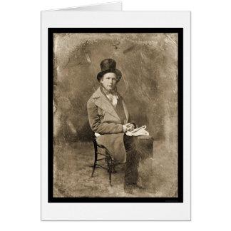 Daguerreotype 1844 de Greeley del periodista Tarjeta De Felicitación