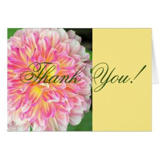 DAHLIA/THANK ROSADO Y AMARILLO QUE USTED CARDA TARJETA