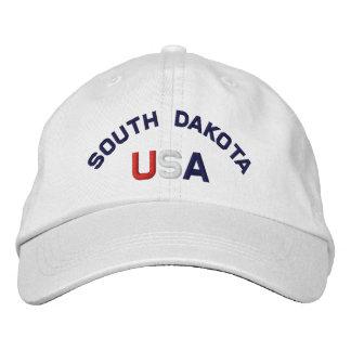 Dakota del Sur los E.E.U.U. bordó el gorra blanco Gorra Bordada