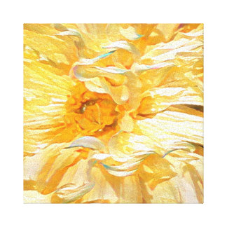 Dalia amarilla de lujo lienzo