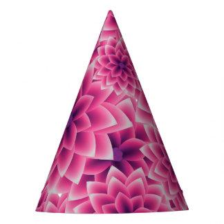 Dalia colorida de la púrpura del modelo del verano gorro de fiesta