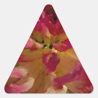 dalia de la magenta, del rosa, y blanca pegatina triangular