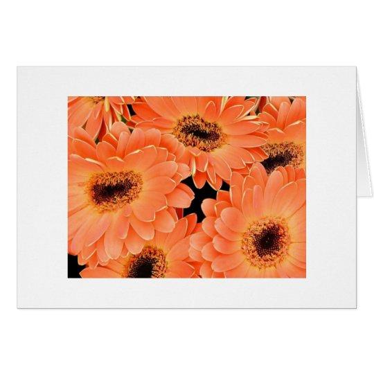 Dalias anaranjadas tarjeta de felicitación