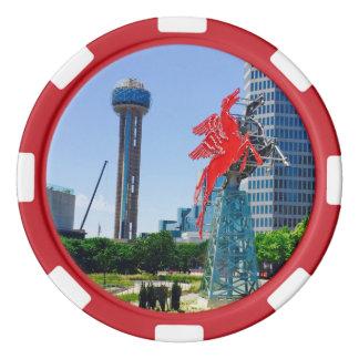 Dallas céntrica Tejas Fichas De Póquer