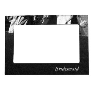 Dama de honor adaptable blanco y negro elegante marcos magneticos