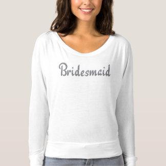 Dama de honor bling la camiseta de encargo
