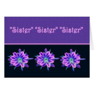 Dama de honor futura de la cuñada - flores tarjeta de felicitación