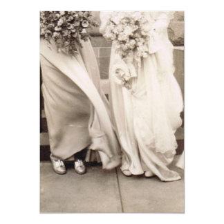 Dama de honor y novia del vintage invitación 12,7 x 17,8 cm