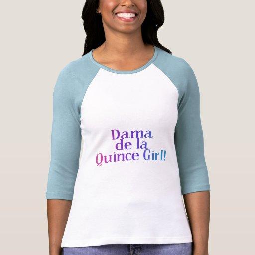 Dama de la Quince Girl Camiseta