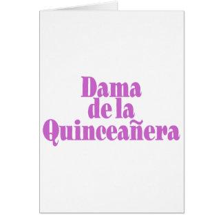 Dama de las Quinceanera Tarjeta De Felicitación