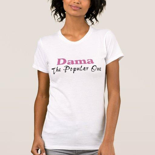 Dama el popular camisetas
