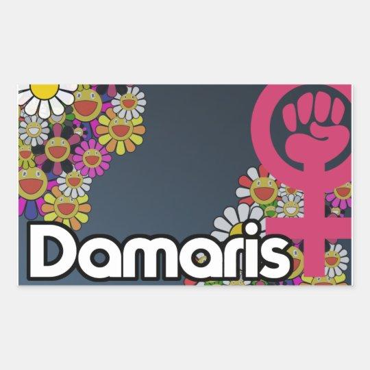 Damaris - Sheet of 4... Pegatina Rectangular