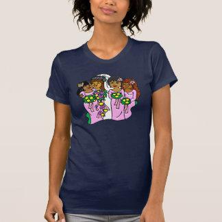 Damas de honor en el rosa II Camisetas