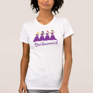 Damas de honor en púrpura camisetas
