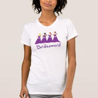 Damas de honor en púrpura camiseta