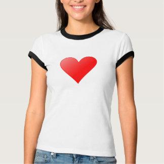 Damas luchadoras T-shirt con corazón sabe/negro