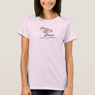 Damas planas Pink Baby-doll Tee Camiseta