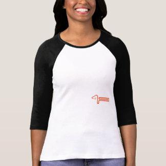 Damas Raglan Shirt con perro basset Camiseta