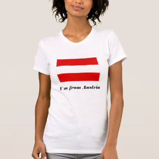 Damas Rojo blanco Rojo T-shirt - I'm from austria_