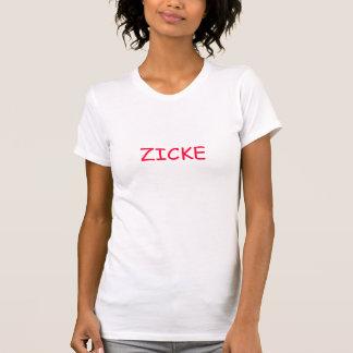 Damas Zicke T-shirt - inscripción roja -