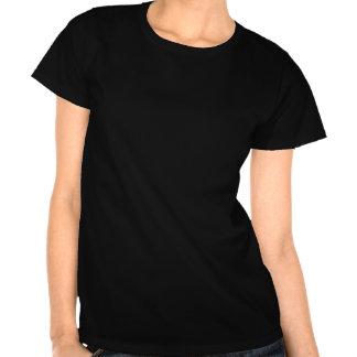 Damas Zwart del logotipo de la camiseta