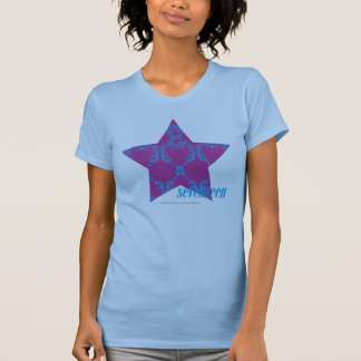 Damasco 3 Aguamarina-Púrpuras Camiseta