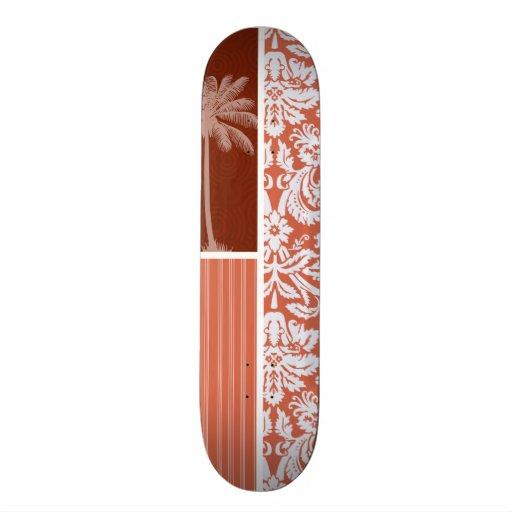 Damasco anaranjado tropical patineta personalizada