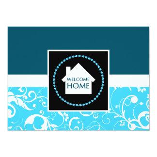 damasco azul casero agradable anuncios personalizados